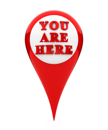 button icons: Location marker showing you are here