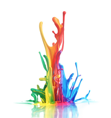 vibrant colours: Colorful paint splashing