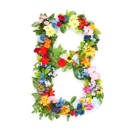 나뭇잎과 꽃으로 만든 편지 스톡 콘텐츠