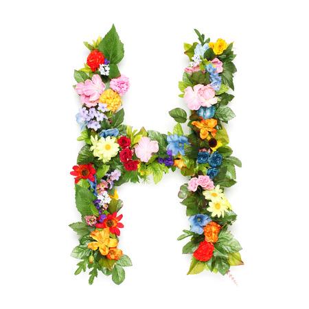 Lettere fatte di foglie e fiori Archivio Fotografico - 30322970