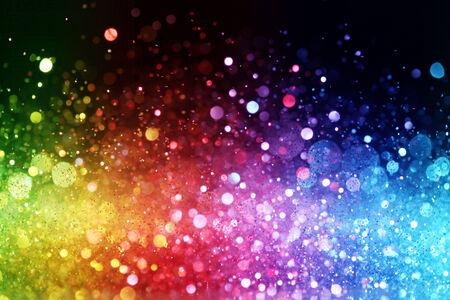 rainbow background: Rainbow of lights Stock Photo