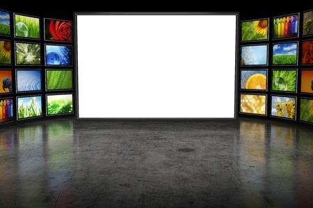 Tv screeen met beelden