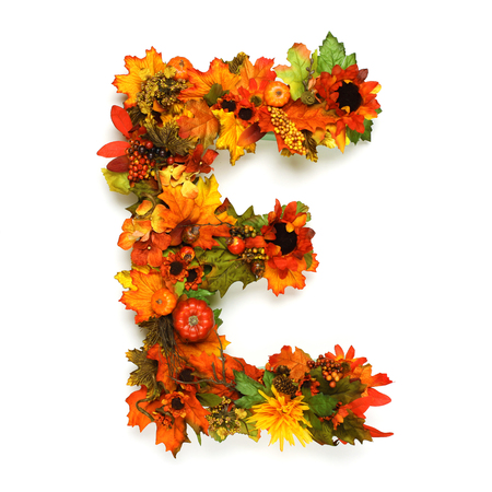 e alphabet: Autumn alphabet