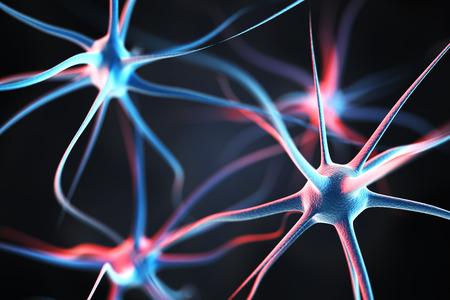 Neurons in the brain Stockfoto