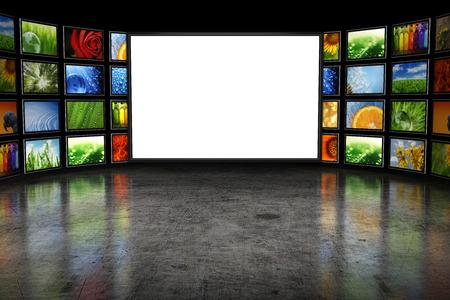télé: Tv screeen avec des images Banque d'images