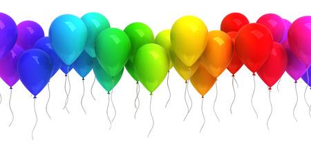 globos de cumplea�os: Globos de colores Foto de archivo