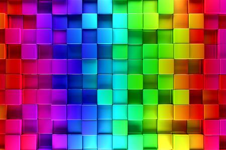 カラフルなブロックの抽象的な背景 写真素材