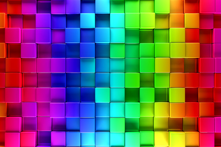 Colorful blocks abstract background Imagens - 31627471