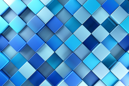 Blue blocks abstract background Stock Photo