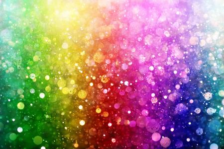 Regenbogen von Lichtern Standard-Bild