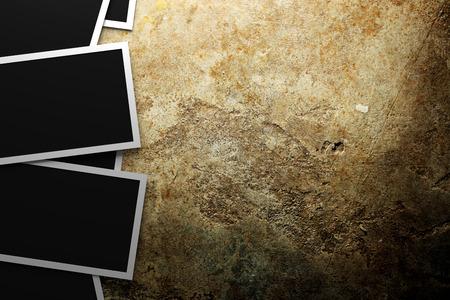 photo album: Blank photos Stock Photo