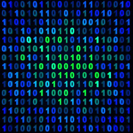 Blue & green binary background