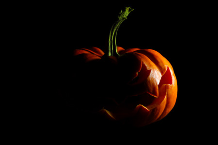 Halloween jack o lantern silhouette
