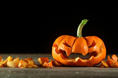 jack o lantern: Carved Halloween jack o lantern