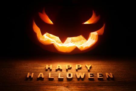 ジャック o ランタン - 幸せなハロウィーンと不気味なハロウィーンの背景 写真素材