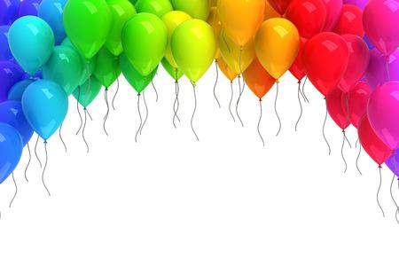 Kleurrijke ballonnen  Stockfoto