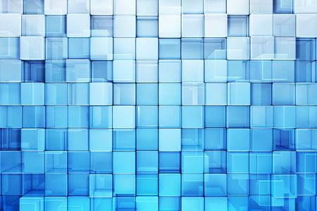 blue backgrounds: Blue blocks abstract background Stock Photo