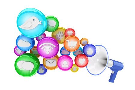 web icons: Social media icons Stock Photo
