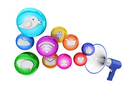 multimedia icons: Social media icons Stock Photo