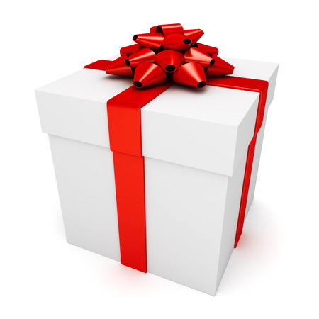 Christmas or birthday present Stock Photo