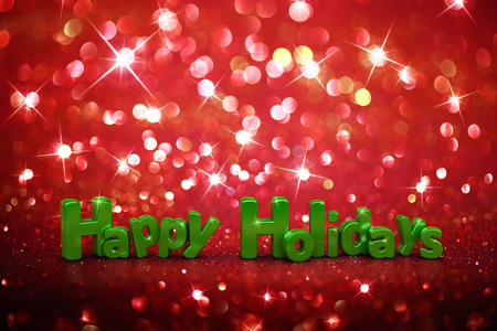 happy holidays: Christmas glitter background - Happy Holidays