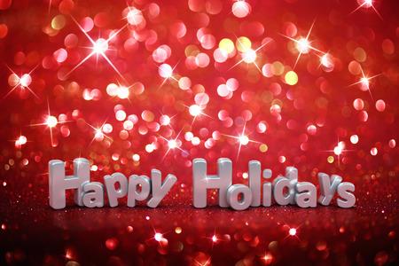 クリスマス キラキラ背景 - 幸せな休日 写真素材