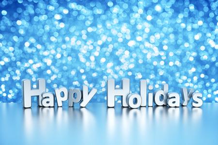 holidays: Christmas glitter background - Happy Holidays