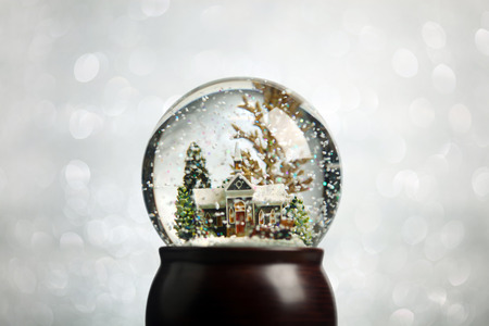 crystal background: Christmas snowglobe