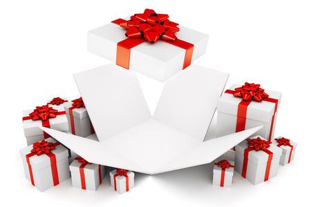 open: Open Christmas or birthday present