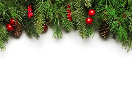 クリスマスの木の枝の背景