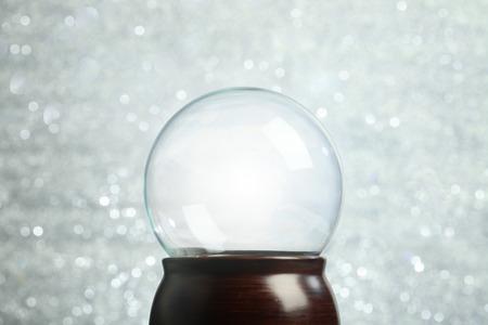 empty: Empty snow globe Christmas background