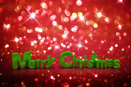 Christmas glitter background - Merry Christmas photo