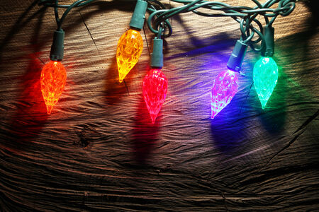 colored lights: Christmas lights