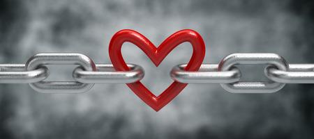 Ketting met hart Stockfoto