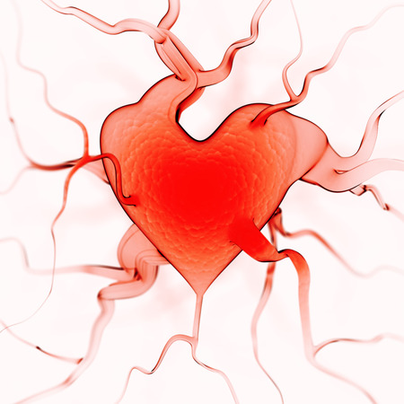 arteries: Heart background