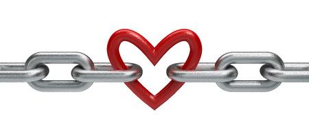 Cadena con el corazón