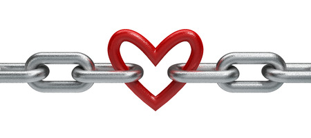 unbreakable: Chain with heart Stock Photo