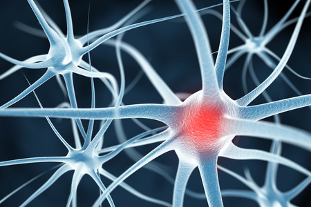 Neurons abstract background 스톡 콘텐츠