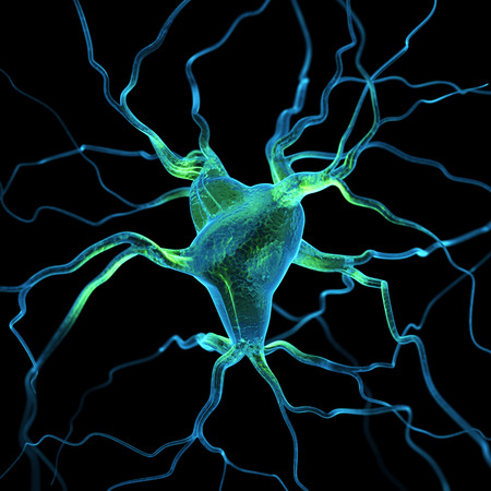 neuron: Neurons abstract background Stock Photo