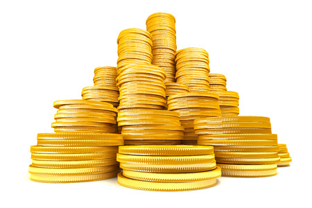 Stack of gold coins Stockfoto
