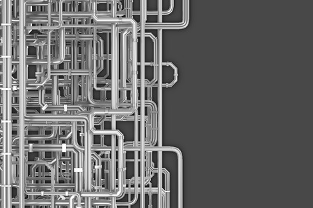 Maze of pipes background