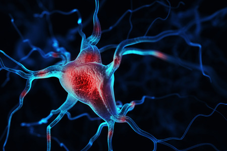 pulsing: Neurons abstract background Stock Photo