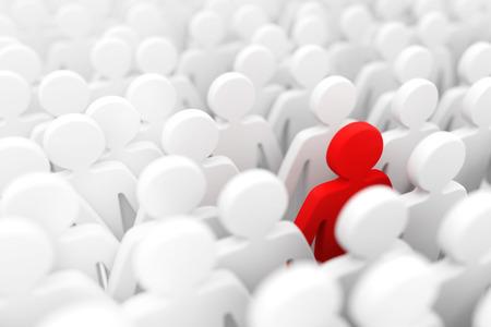 menschenmenge: Sich abheben von der Masse ab