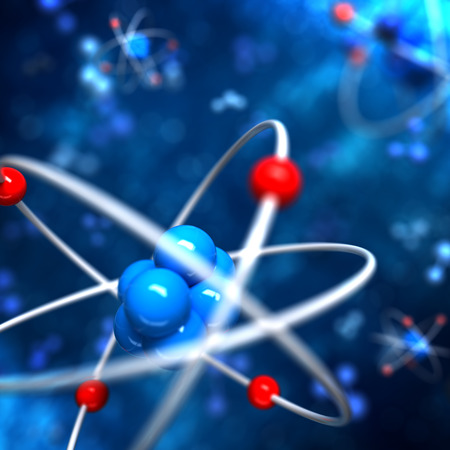 Atom abstract background Imagens