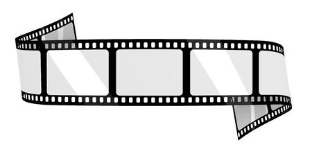 Bandera blanco de la película Foto de archivo - 39344499