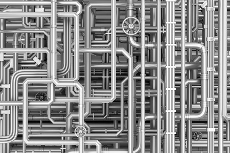 steel: Maze of metal pipes background