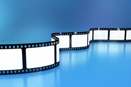 Blank film background