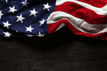 patriotic: American flag for Memorial Day or 4th of July Stock Photo