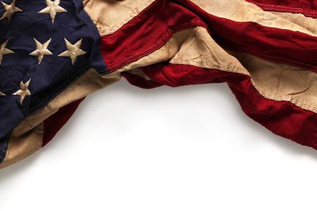 rayures vintage: Vieux drapeau am�ricain arri�re-plan pour le Memorial Day ou le 4 Juillet Banque d'images