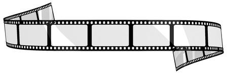 Bandera blanco de la película Foto de archivo - 39789232